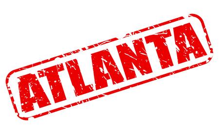 atlanta tourism: ATLANTA red stamp text on white
