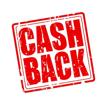 optimum: Cash back red stamp text on white Stock Photo