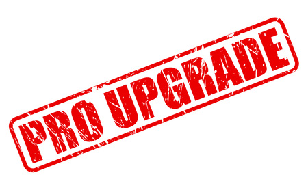 upgrade: Pro upgrade red stamp text on white