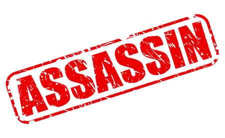 assassin: ASSASSIN red stamp text on white Stock Photo