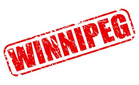 winnipeg: WINNIPEG red stamp text on white Stock Photo