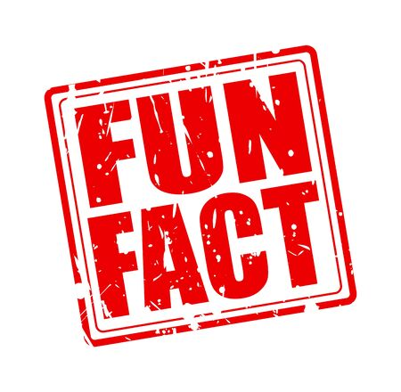 fact: Fun fact red stamp text on white Stock Photo