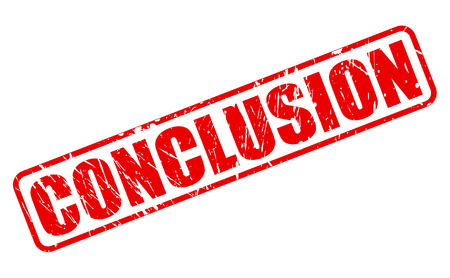 conclusion: CONCLUSION red stamp text on white Stock Photo