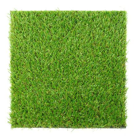 Alfombra de hierba aislado sobre fondo blanco Foto de archivo - 43417168