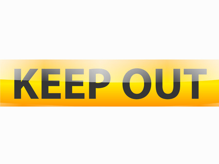 keep out: Keep out black text on yellow tapes line