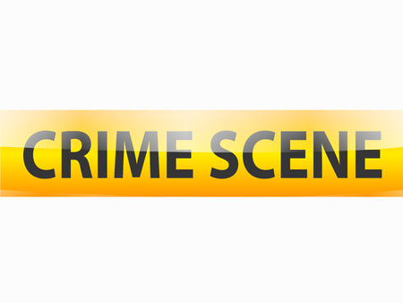 background csi: Crime scene text on yellow tapes background