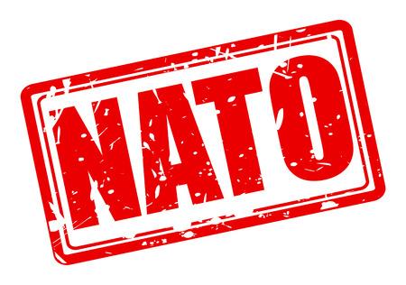 north atlantic treaty organization: NATO red stamp text on white