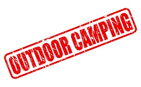 red stamp: Outdoor camping red stamp text on white
