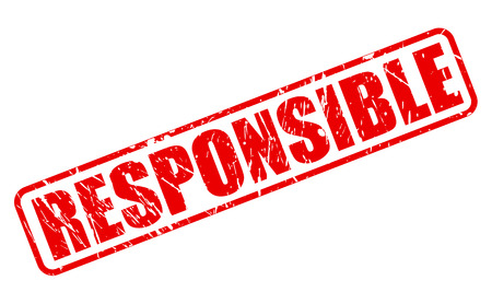 Responsible red stamp text on white Stock Photo