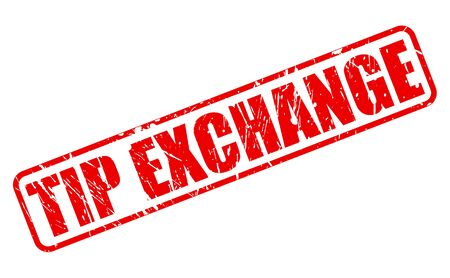 tip: Tip exchange red stamp text on white Stock Photo
