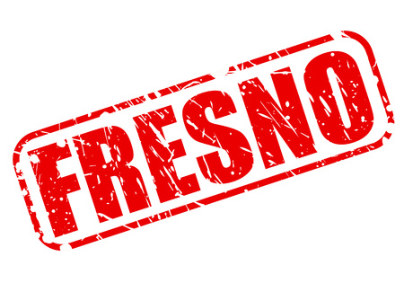 san joaquin valley: FRESNO red stamp text on white