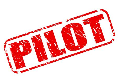 airline pilot: Pilot red stamp text on white Stock Photo