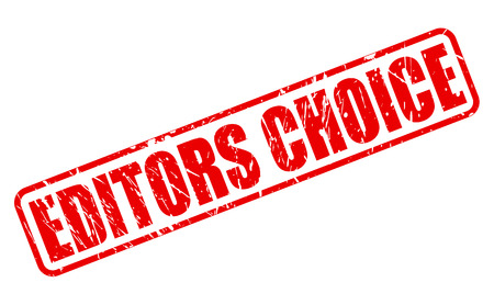 editors: Editors Choice red stamp text on white