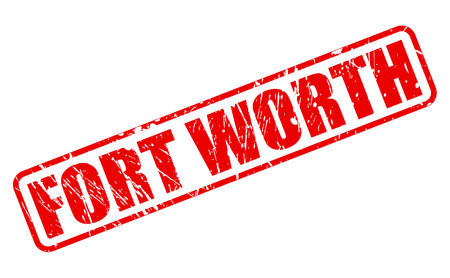 fort worth: Fort Worth red stamp text on white Stock Photo