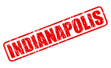 indianapolis: INDIANAPOLIS red stamp text on white