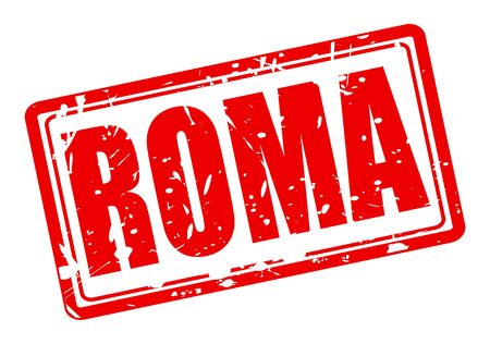 Roma: Roma red stamp text on white Stock Photo
