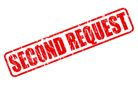 solicit: Second Request red stamp text on white