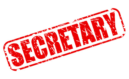 executive assistants: Secretary red stamp text on white