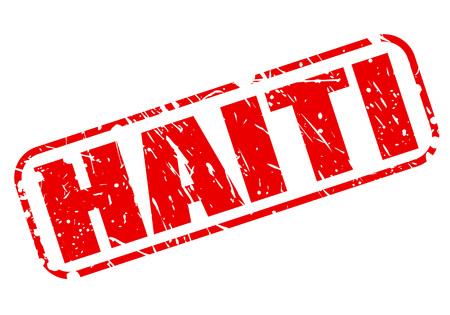 haiti: Haiti red stamp text on white Stock Photo