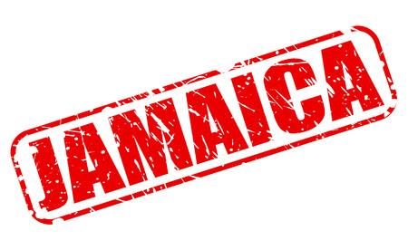 Jamaica red stamp text on white 版權商用圖片 - 43812177