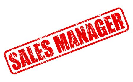 sales manager: Sales Manager red stamp text on white