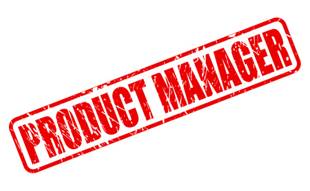 Product Manager red stamp text on white