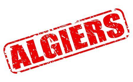 algiers: ALGIERS red stamp text on white (Capital of Algeria) Stock Photo