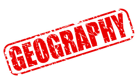geography: GEOGRAPHY red stamp text on white Stock Photo