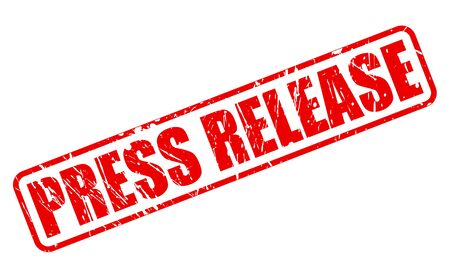 release: Press Release red stamp text on white