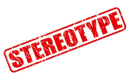 estereotipo: Texto ESTEREOTIPO sello rojo sobre blanco Foto de archivo