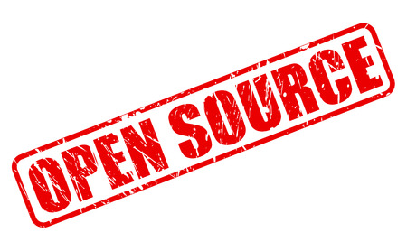 open source: OPEN SOURCE red stamp text on white