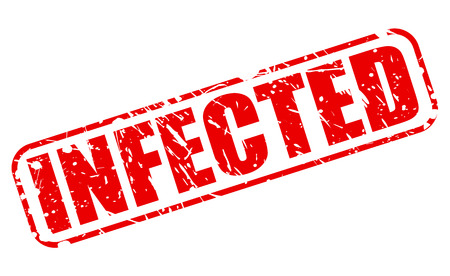 infected: INFECTED red stamp text on white Stock Photo