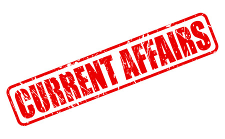 affairs: CURRENT AFFAIRS red stamp text on white