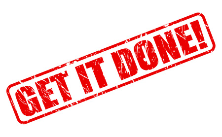 git: Git it done red stamp text on white Stock Photo
