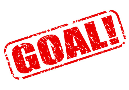 footy: Goal red stamp text on white Stock Photo