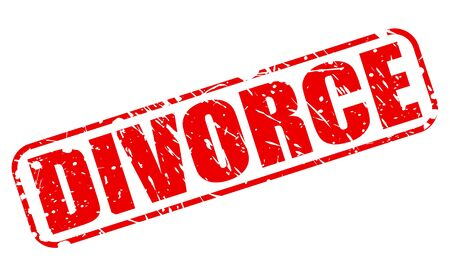 dissolution: DIVORCE red stamp text on white Stock Photo