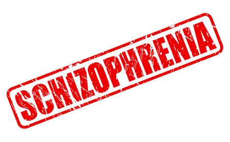 esquizofrenia: Texto ESQUIZOFRENIA sello rojo sobre blanco