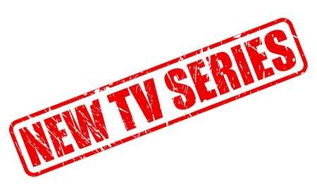 episodes: NEW TV SERIES red stamp text on white