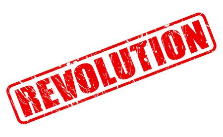 insurgency: REVOLUTION red stamp text on white