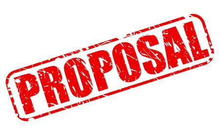 proposition: PROPOSAL red stamp text on white