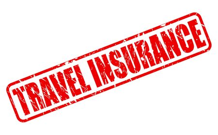 security gap: TRAVEL INSURANCE red stamp text on white