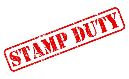 deeds: STAMP DUTY red stamp text on white Stock Photo