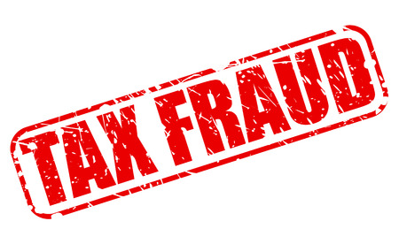 extortion: Tax Fraud red stamp text on white Stock Photo