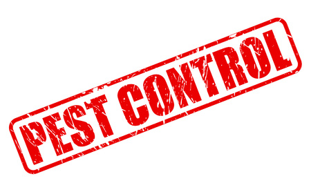 pest: PEST CONTROL red stamp text on white Stock Photo