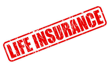 medical bills: LIFE INSURANCE red stamp text on white