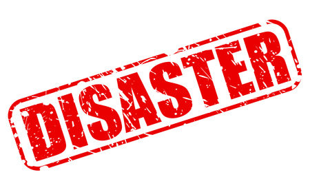 DISASTER red stamp text on white Stock Photo