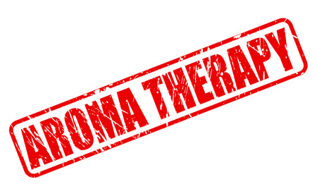 aroma therapy: AROMA THERAPY red stamp text on white