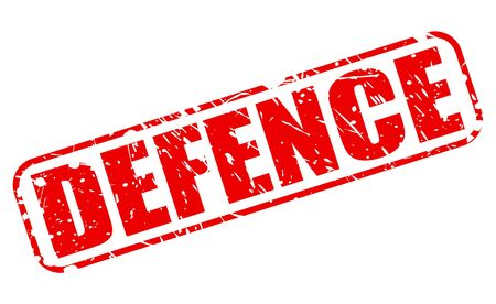 retain: DEFENCE red stamp text on white