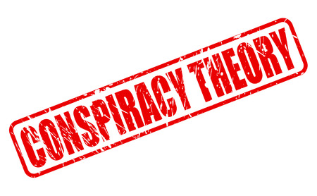 conspiracy: CONSPIRACY THEORY red stamp text on white
