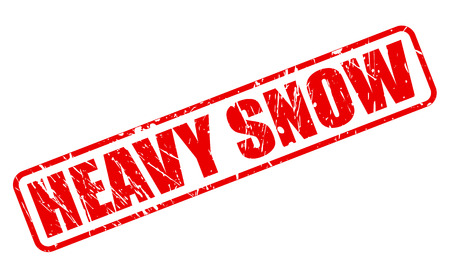 heavy snow: HEAVY SNOW red stamp text on white Stock Photo